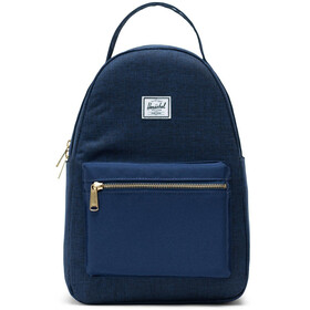 Herschel Nova Small Backpack 17L Unisex, medieval blue crosshatch/medieval blue